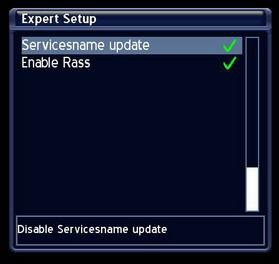 service name update